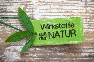 Wirkstoffe aus der Natur - Label